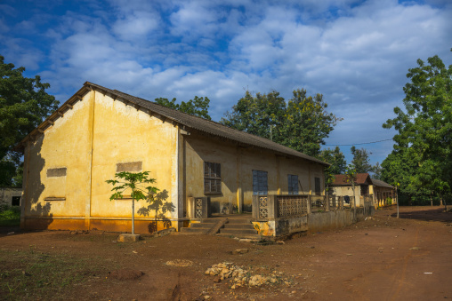 Benin, West Africa, Abomey, old french colonial building
