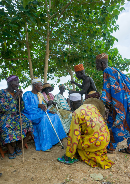 Benin, West Africa, Taneka-Koko, traditional kings during a meeting
