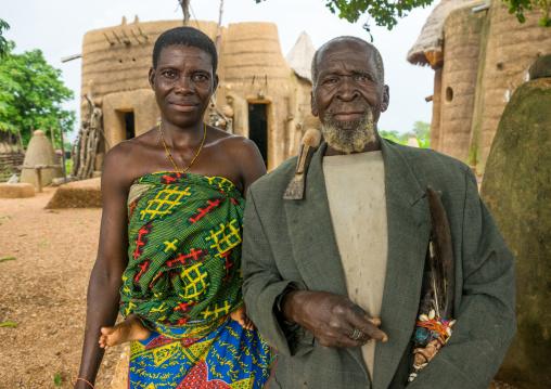 Benin, West Africa, Boukoumbé, mr kouagou maxon and his wife
