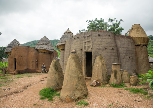 Togo, West Africa, Nadoba, voodoo altars representing the spirits of the dead people from the traditional tata somba house