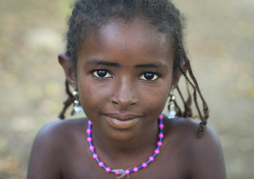 Benin, West Africa, Gossoue, cute fulani peul tribe girl