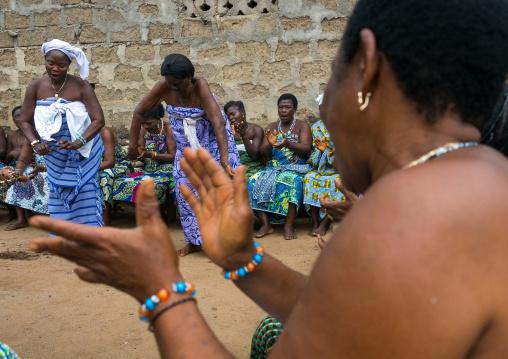 Benin, West Africa, Bopa, women dancing during a traditional voodoo ceremony