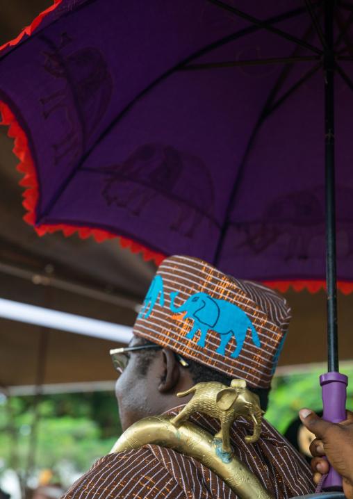 Benin, West Africa, Ouidah, traditional kings meeting