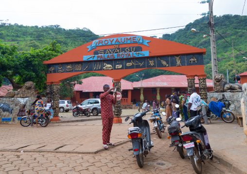 Benin, West Africa, Savalou, royal palace sponsored by muammar gaddafi