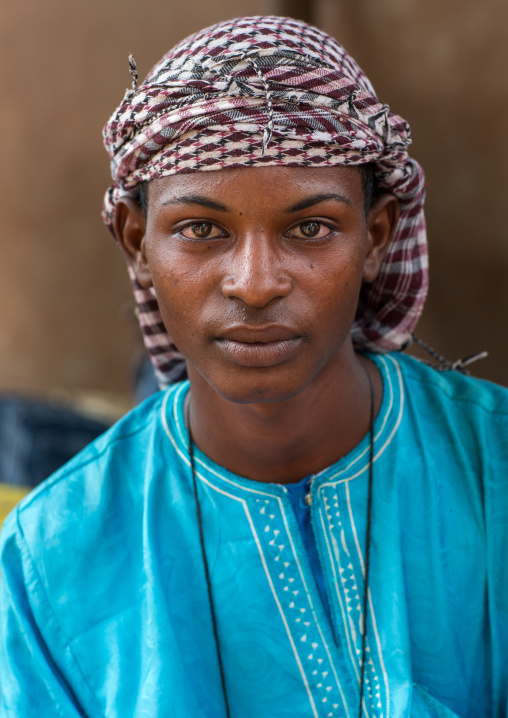 Benin, West Africa, Copargo, young fulani peul man