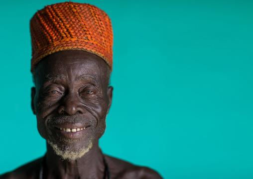 Benin, West Africa, Taneka-Koko, traditional healer called mister tcholi portrait