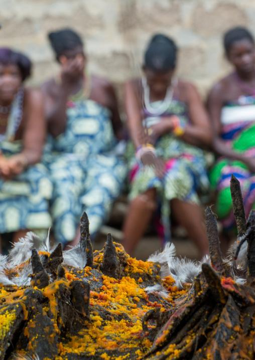 Benin, West Africa, Bopa, women during a voodoo ceremony