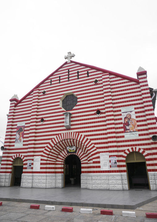 Benin, West Africa, Cotonou, notre dame roman catholic cathedral