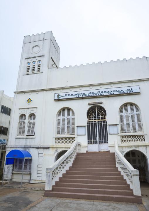 Benin, West Africa, Cotonou, chambre de commerce old colonial building