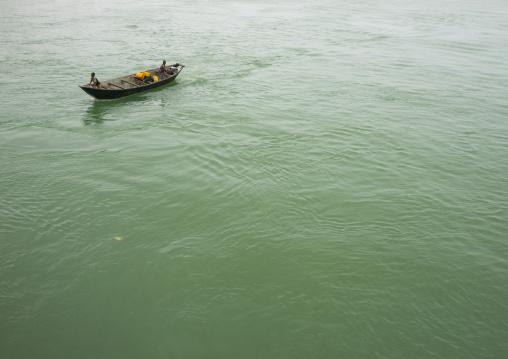Benin, West Africa, Cotonou, boat in nokoue lake
