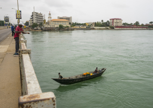 Benin, West Africa, Cotonou, bridge over nokoue lake