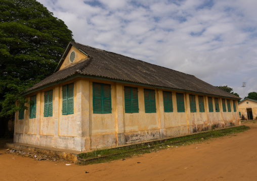 Benin, West Africa, Porto-Novo, old colonial school