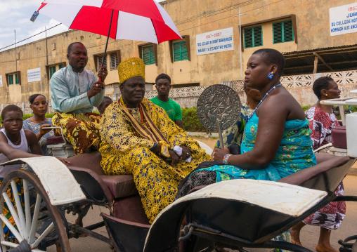 Benin, West Africa, Porto-Novo, porto-novo king toffa ii and his wife in a coach