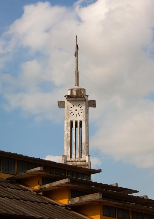 Phsar thom central market clock tower, Battambang province, Battambang, Cambodia