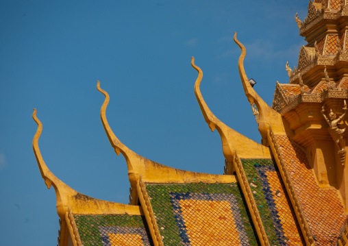 The throne hall roof inside the royal palace complex, Phnom Penh province, Phnom Penh, Cambodia