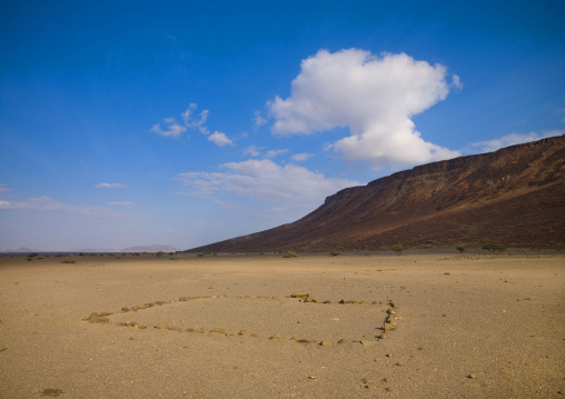Hill In The Desert, Obock, Djibouti
