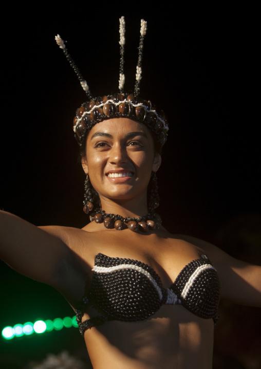 Lili Pate During Tapati Festival, Easter Island, Hanga Roa, Chile Chile