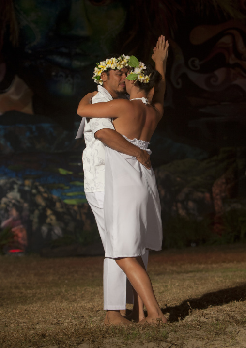 Tango Competition During Tapati Festival, Easter Island, Chile