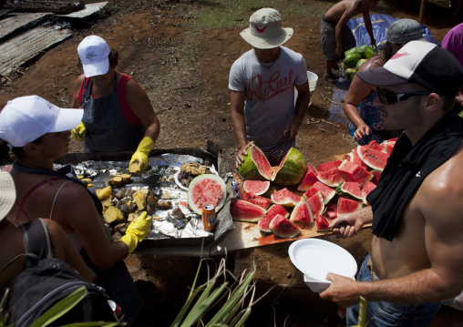 Free Food During Tapati, Easter Island, Chile