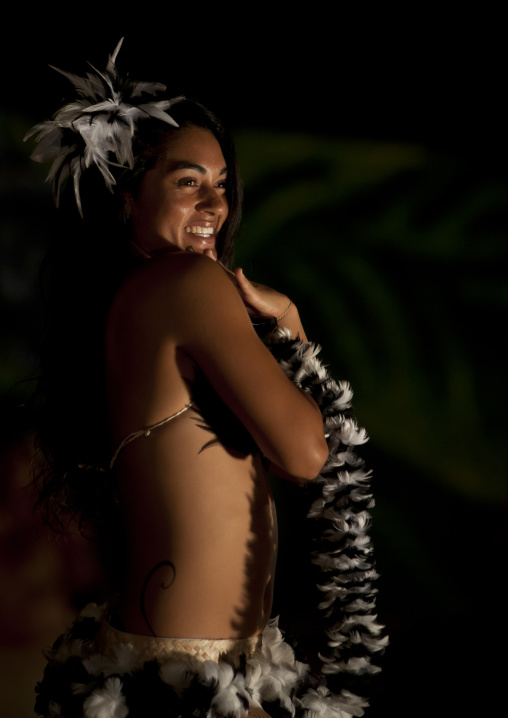 Lili Pate Dancing During Tapati Festival, Easter Island, Chile