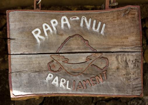 Rapa Nui Parliament In Easter Island, Hanga Roa,  Chile