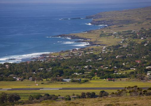 Hanga Roa Panorama, Easter Island, Chile