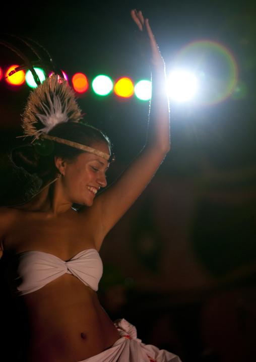 Traditional Dances During Tapati Festival In Hanga Roa, Easter Island, Chile