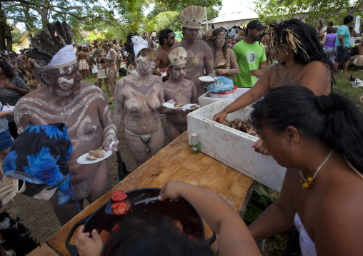 Free Lunch During Tapapti Festival, Easter Island, Chile
