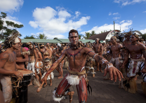 Tribal Dances During Carnival, Tapati Festival, Easter Island, Chile