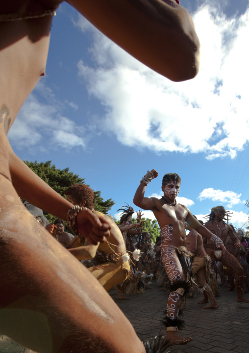 Tribal Dances During Carnivall, Tapati Festival, Easter Island, Chile