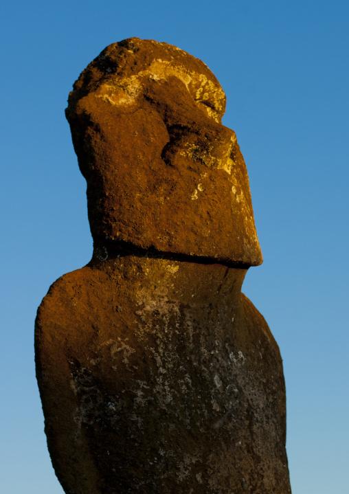 Moai In Ahu Akivi, Easter Island, Chile