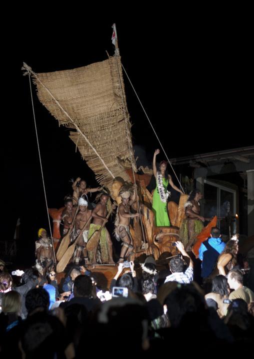 Lili Pate Flaot During Tapati Festival, Easter Island, Chile