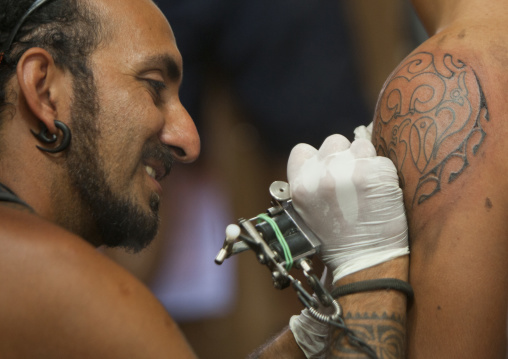 Mokmae, Tattoo Artist, Easter Island, Chile
