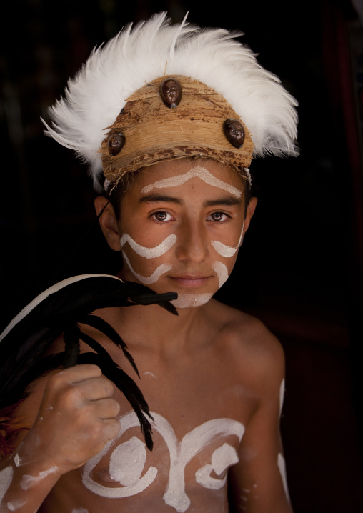 Kid During Tapati Festival, Easter Island, Chile