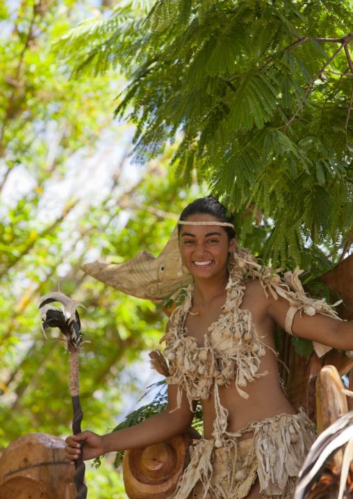 Lili Pate During Tapati Festival, Easter Island, Chile