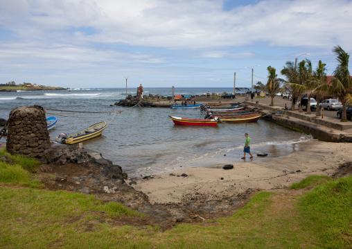 Hanga Roa Port, Easter Island, Chile
