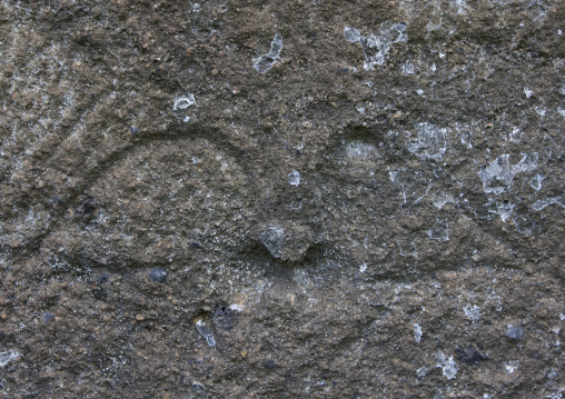 Petroglyph Eyes In Rano Raraku, Easter Island, Chile