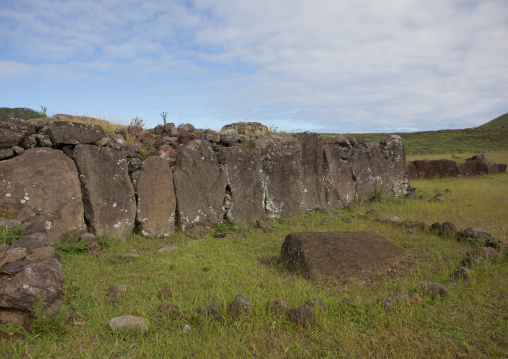 Old Wall In Vinapu Site, Easter Island, Chile