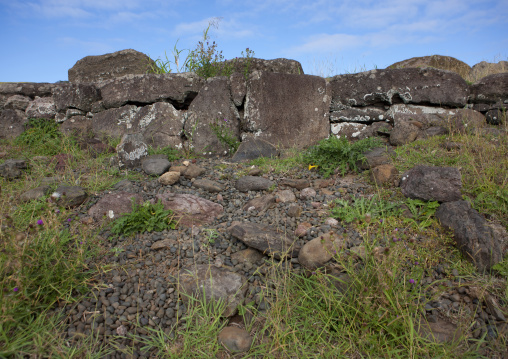 Earth Oven In Vinapu Site, Easter Island, Chile