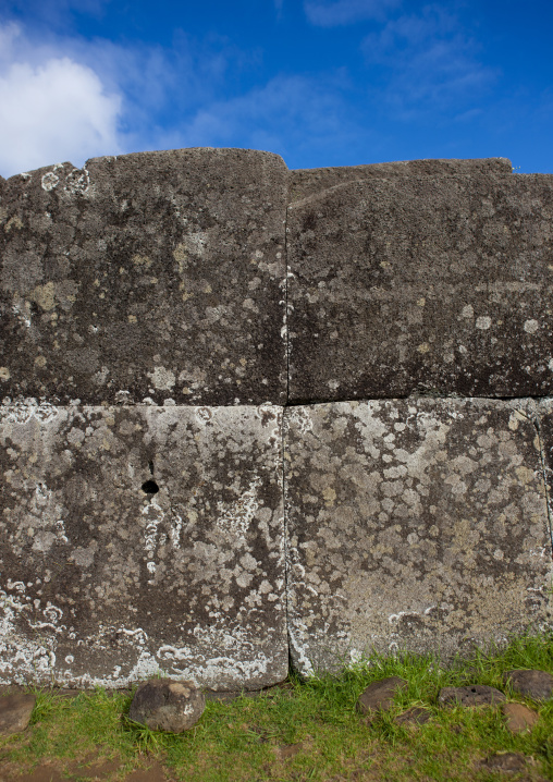 Stone Wall In Vinapu Site, Easter Island, Chile