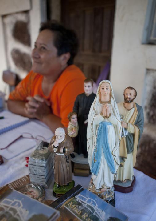 Hanga Roa Christian Souvenirs In Hanga Roa, Easter Island, Chile