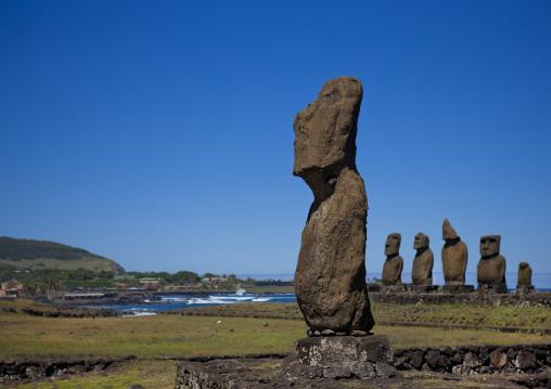 Moai In Ahu Tahai, Easter Island, Hanga Roa, Chile