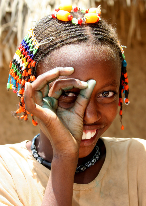 Kunama Tribe Girl With Dreadlocks, Barentu,  Eritrea