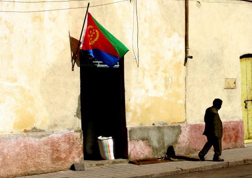 Flag In Asmara, Eritrea