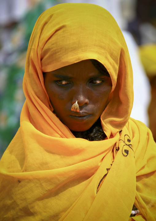 Woman With Nose Ring In Market, Senafe, Eritrea