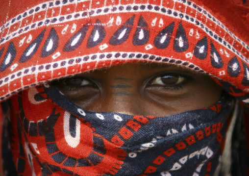 Afar Tribe Girl In Danakil Desert, Eritrea