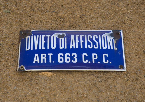 Old Italian Billboard, Central region, Asmara, Eritrea