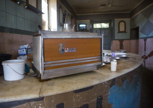 Expresso Machine In The Former Train Station, Anseba, Keren, Eritrea