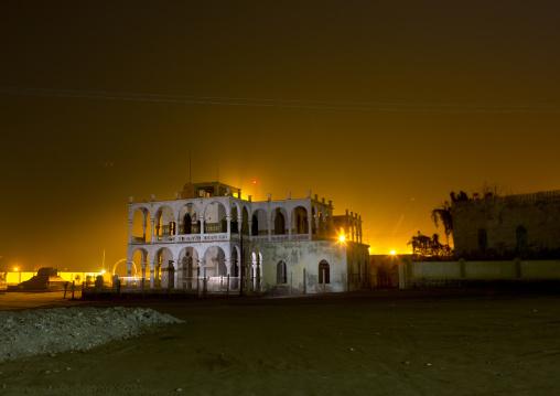 Ruins Of The Former Banca D Italia At Night, Northern Red Sea, Massawa, Eritrea