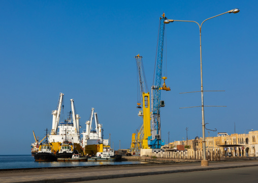 Ships in the commercial port, Northern Red Sea, Massawa, Eritrea
